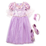 Disney Collection Rapunzel Costume, Headband or Shoes – Girls 2-12