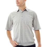Palmland® Knit Banded-Bottom Polo