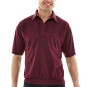 Palmland® Short-Sleeve Solid Banded-Bottom Polo