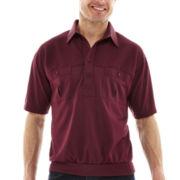 Palmland® Short-Sleeve Solid Banded-Bottom Polo