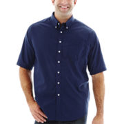 Dockers® Short-Sleeve Solid Woven Shirt–Big & Tall