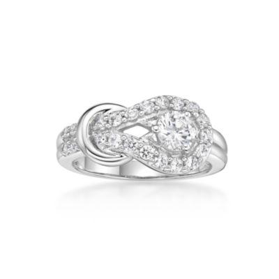 Fine Jewelry Diamonart Womens White Cubic Zirconia Sterling Silver Cocktail Ring W2Zr8qi