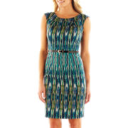 Alyx® Cap-Sleeve Belted Sheath Dress