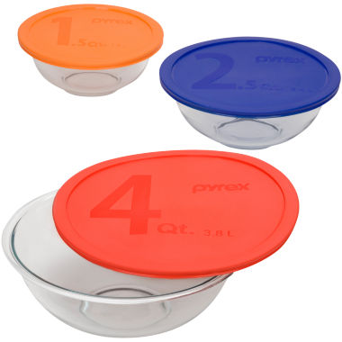 jcpenney.com | Pyrex® Smart Essentials 6-pc. Mixing Bowl Set