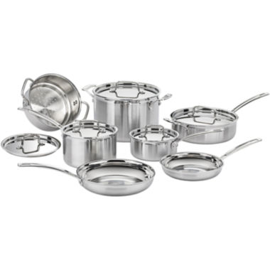 jcpenney.com | Cuisinart® MultiClad Pro 12-pc. Tri-Ply Stainless Steel Cookware Set