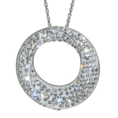 jcpenney.com | Sterling Silver White Crystal Circle Pendant Necklace