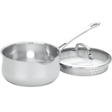 jcpenney.com | Cuisinart® Contour 2-qt. Stainless Steel Spouted Saucepan with Lid