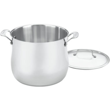 jcpenney.com | Cuisinart® Contour 12-qt. Stainless Steel Stock Pot with Lid