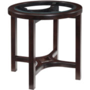 Cambria Wood Glass Top Round 25