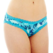 Flirtitude® Lace-Trim Bikini Panties
