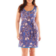 a.n.a® Sleeveless Print Dress - Plus