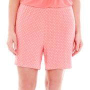 Ambrielle® Easy Knit Sleep Shorts - Plus