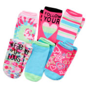 Total Girl® 6-pk. Printed No-Show Socks - Girls 7-16