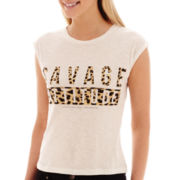 MNG by Mango® Sleeveless Savage Attitude T-Shirt