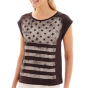 MNG by Mango® Short-Sleeve American Flag Graphic T-Shirt