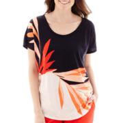Liz Claiborne® Short-Sleeve Floral T-Shirt