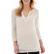 Liz Claiborne® 3/4-Sleeve Knit Tunic