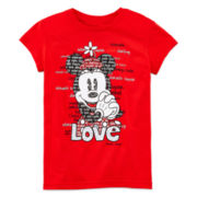 Disney Collection Minnie Mouse Graphic Tee – Girls 2-10