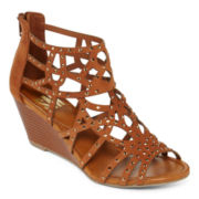 SM Greer Strappy Wedge Sandals