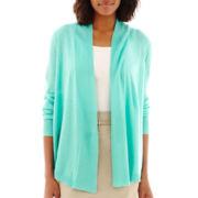 Liz Claiborne® Open-Front Cardigan Sweater Cozy