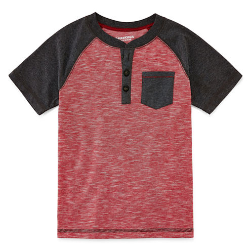 Arizona Boys Short-Sleeve Henley - Preschool 4-7