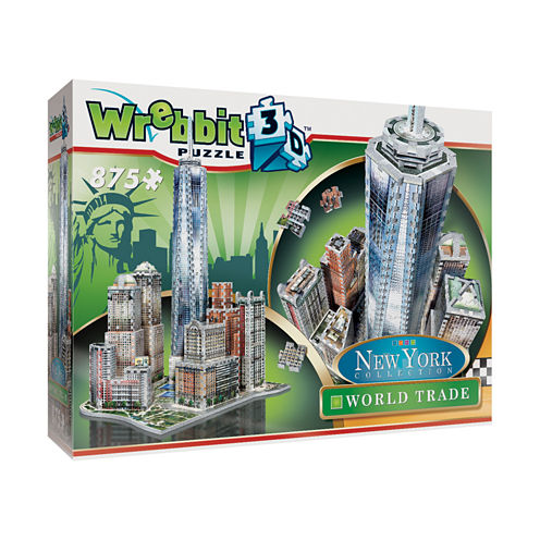 Wrebbit New York Collection - World Trade 3D Puzzle: 875 Pcs