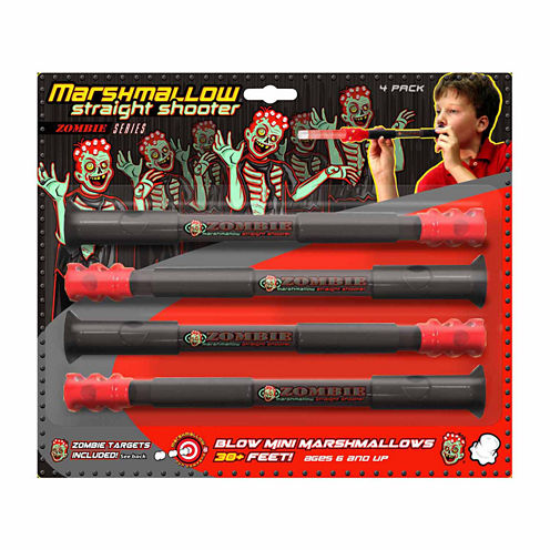 Marshmallow Fun Company Marshmallow Zombie Straight Shooter 4-pack