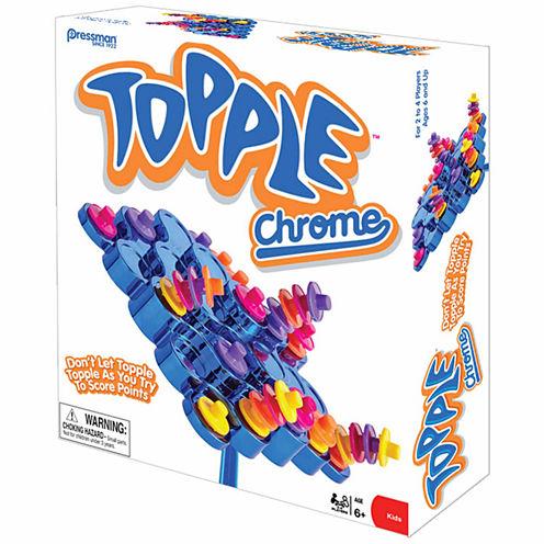Pressman Toy Topple Chrome