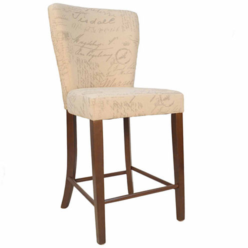 Carolina Chair & Table Brea Upholstered Counter Height Upholstered Bar Stool