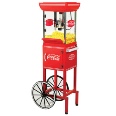 jcpenney.com | Nostalgia CCP399COKE 48-Inch Tall Coca-Cola 2.5-Ounce Kettle Popcorn Cart