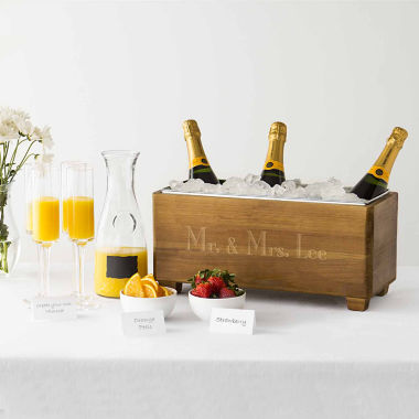 jcpenney.com | Cathy's Concepts Personalized Wood Wine Trough