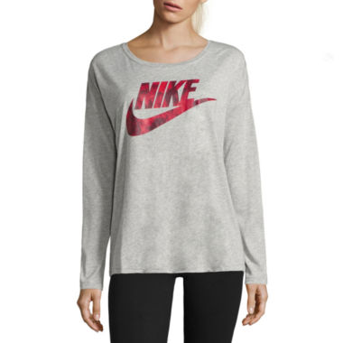 jcpenney.com | Nike Long Sleeve Scoop Neck T-Shirt