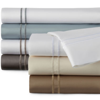 jcpenney.com | Studio™ 500tc Embroidered Hem Sheet Set