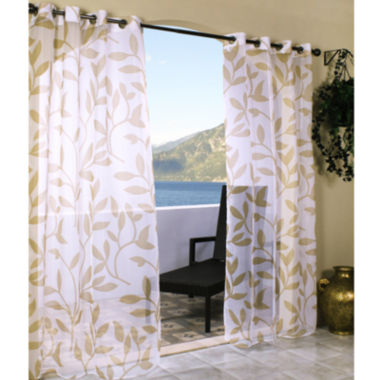 jcpenney.com | Escape Leaf Grommet-Top Outdoor Curtain Panel