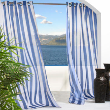 jcpenney.com | Escape Stripe Grommet-Top Outdoor Curtain Panel