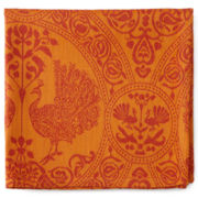 Mahogany Peacock Orange Set of 4 Napkins