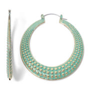 Arizona Patina Textured Hoop Earrings