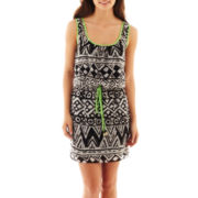 City Triangles® Sleeveless Print Blouson Dress