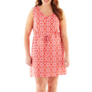 a.n.a® Sleeveless Drawstring Dress - Plus