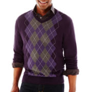 Claiborne® Argyle Sweater