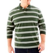 The Foundry Supply Co.™ Sueded Striped Polo-Big & Tall