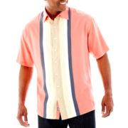 Nat Nast® Short-Sleeve Trackside Silk-Tencel® Shirt–Big & Tall
