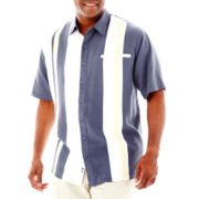 Nat Nast® Short-Sleeve Drop-In Silk-Tencel® Shirt–Big & Tall