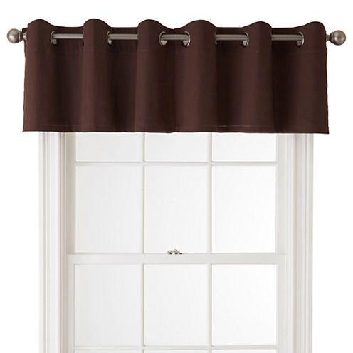 JCPenney Home™ Jenner Cotton Grommet-Top Insert Valance