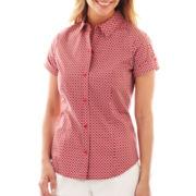 Liz Claiborne Short-Sleeve Woven Shirt