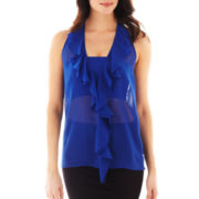 Bisou Bisou® Ruffled Surplice-Back Top