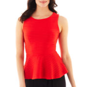 Bisou Bisou® Textured Peplum Top