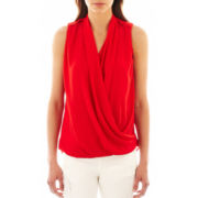 MNG by Mango® Sleeveless Draped Blouse