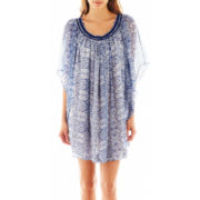 MNG by Mango® Flutter-Sleeve Print Dress