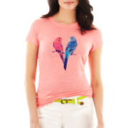jcp™ Short-Sleeve Linen Graphic Tee